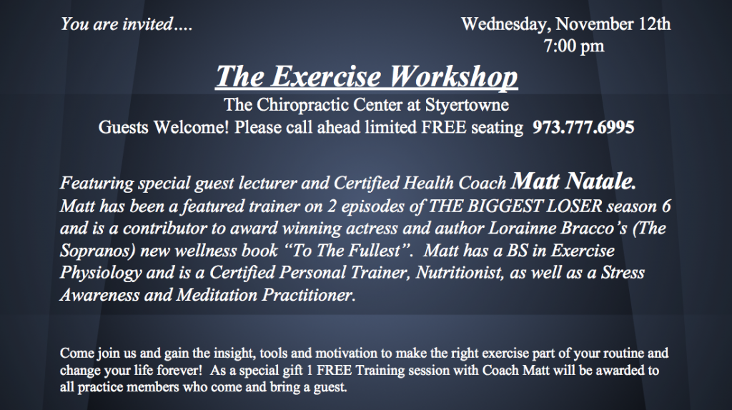 The Exercise Workshop | Chiropractors at Clifton