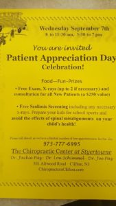 Patient Appreciation Day Flyer | The Chiropractic Center at Styertowne