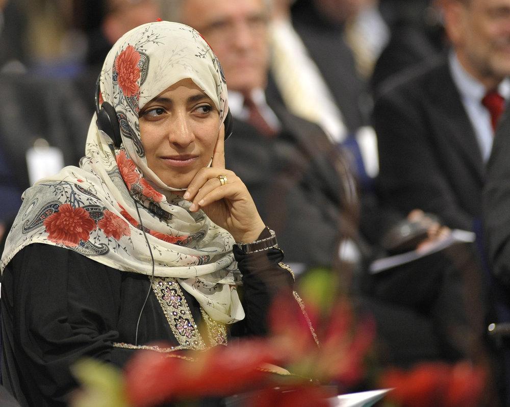 Tawakkol Karman  Nobel Peace Laureate, Yemeni journalist, politician and human rights activist