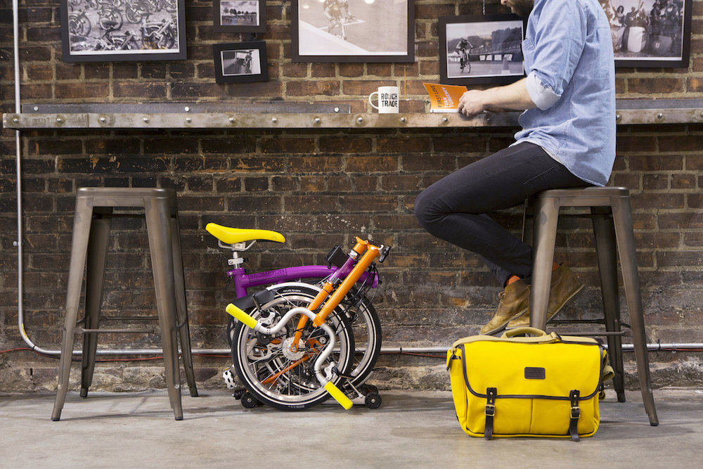 Brompton bikes - get you there fast and can go places other bikes can't (like under your seat).