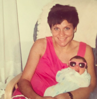 My mom and I - Clearly from birth I was destined for a sunshine-filled life.  😎