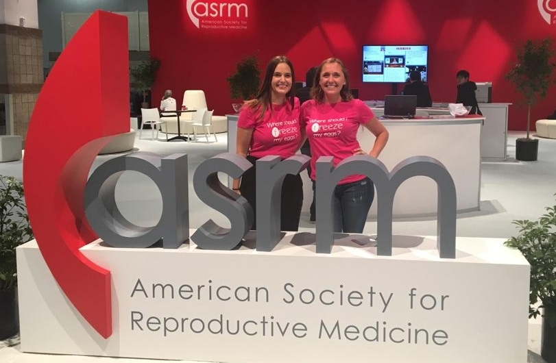 Jennifer Lannon and Sidonia Swarm, Co-founders of Freeze, at ASRM 2018
