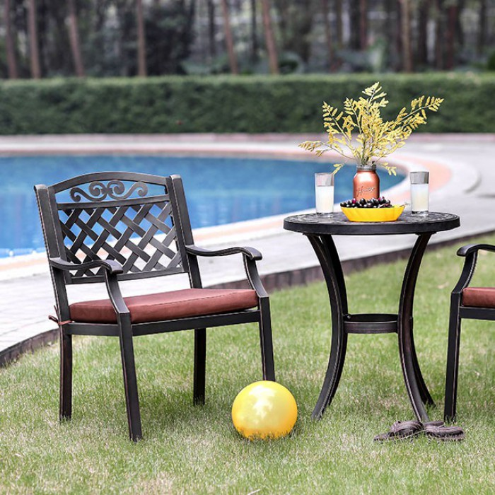 Jessa Round Patio Table Arm Chairs Ideal Furniture Of Sc