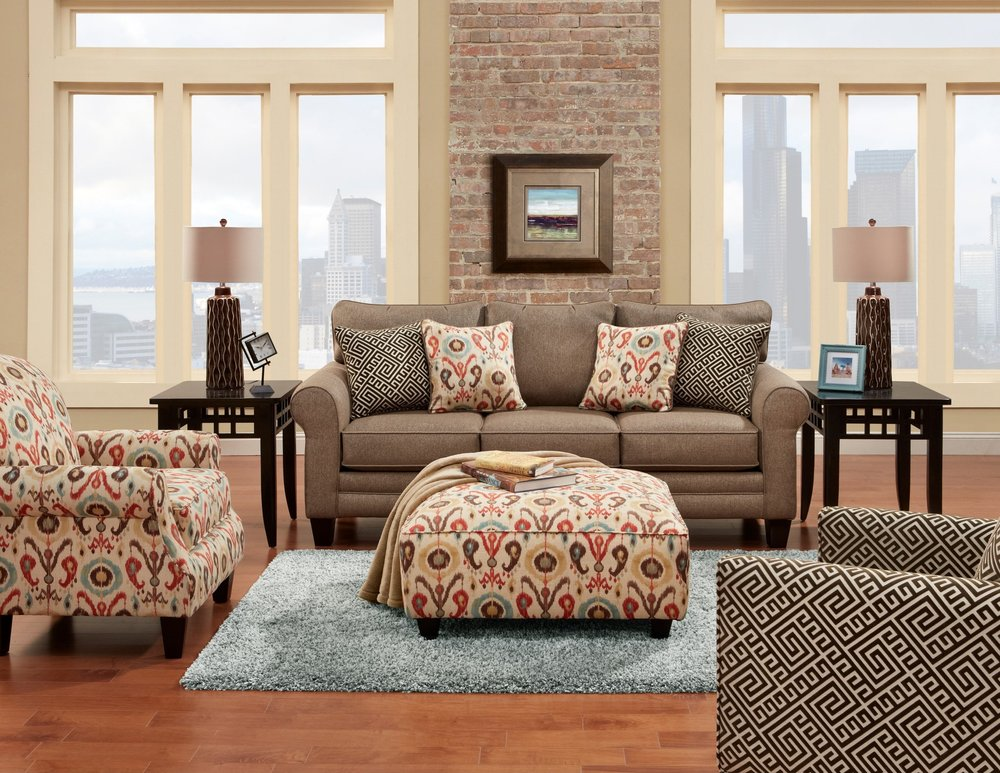 Fusion Furniture Romero Badger Sofa And Loveseat Ideal