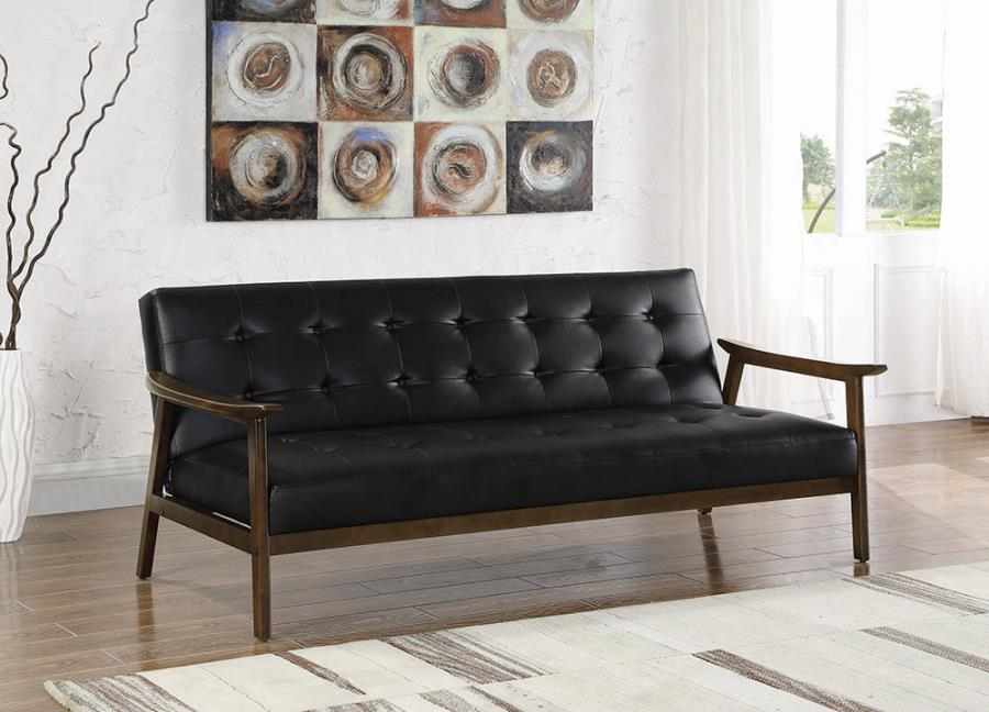 Mid-Century Styled Convertible Sofa Bed