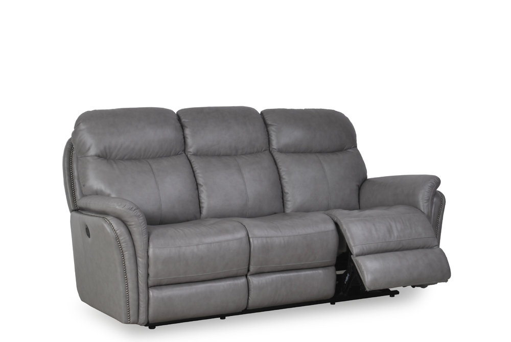 Leather Power Motion Sofa and Loveseat | Gray — iDeal Furniture of SC