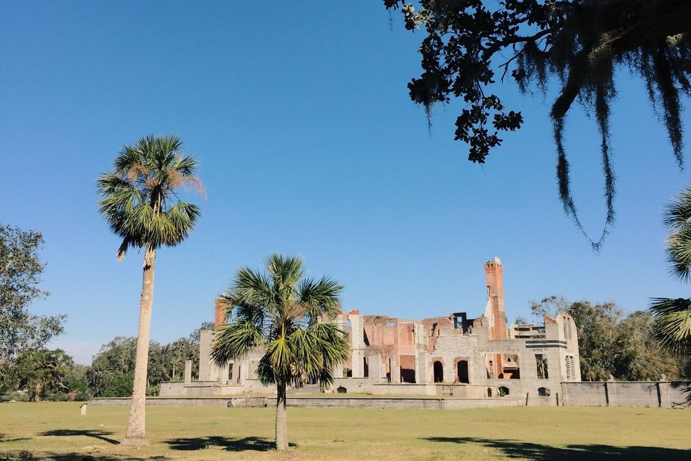 The Dungeness Ruins on Cumberland Island off the southern coast of Georgia.