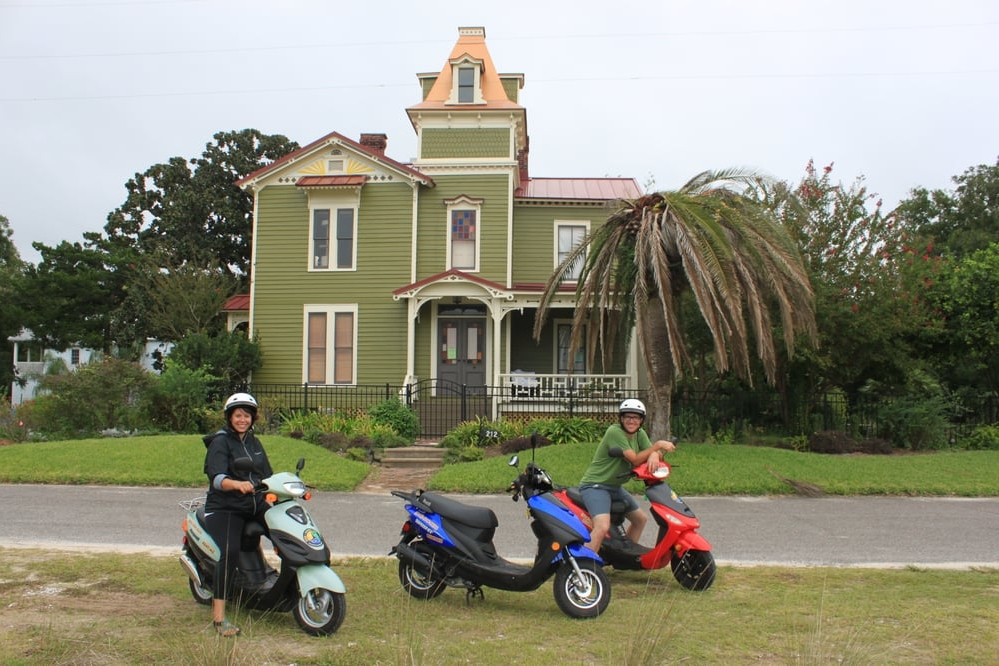 Scooter rentals from Bike, Scoot or Yak in Fernandina Beach, Florida.