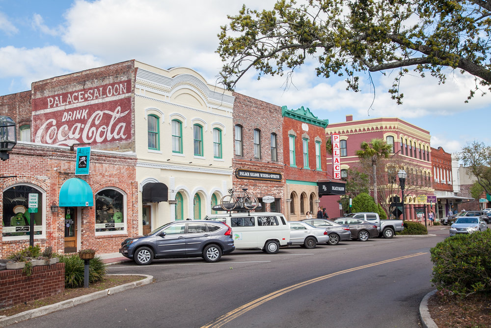 Downtown Fernandina Beach, Florida.