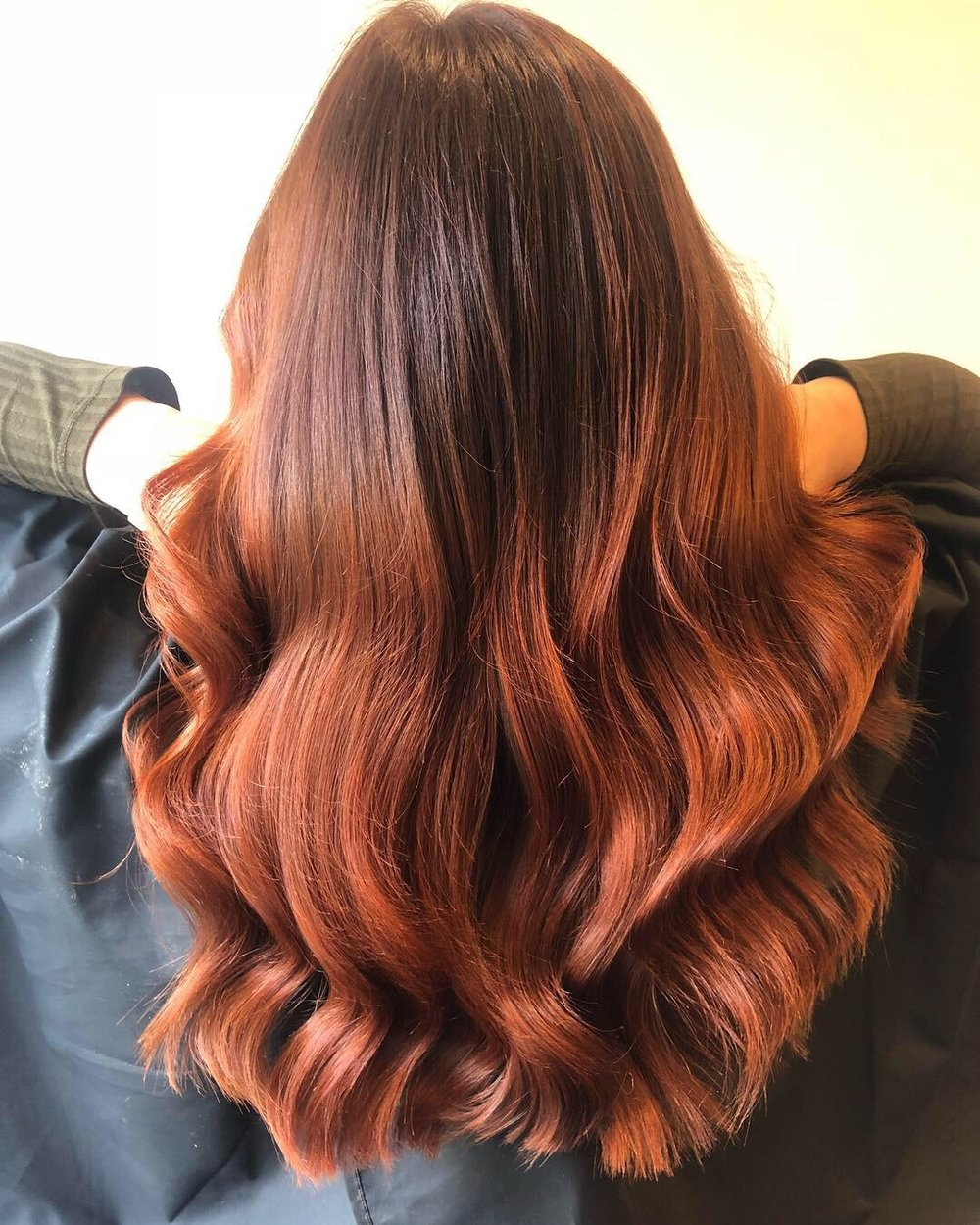 Rich Brunette to Red Colour Blend
