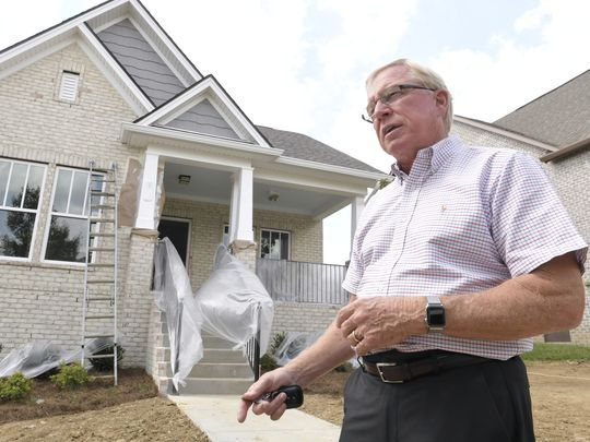 David McGowan, owner of Regent Homes, walks through the new Carothers Farms subdivision in southeast Davidson County. Shelley Mays/The Tennessean