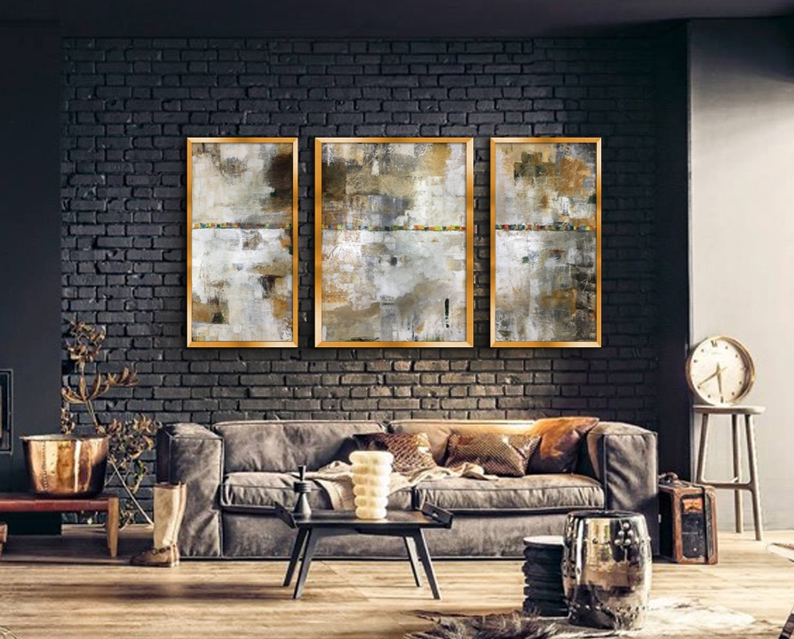 In Here Somewhere| triptych 7'x4' | Sold