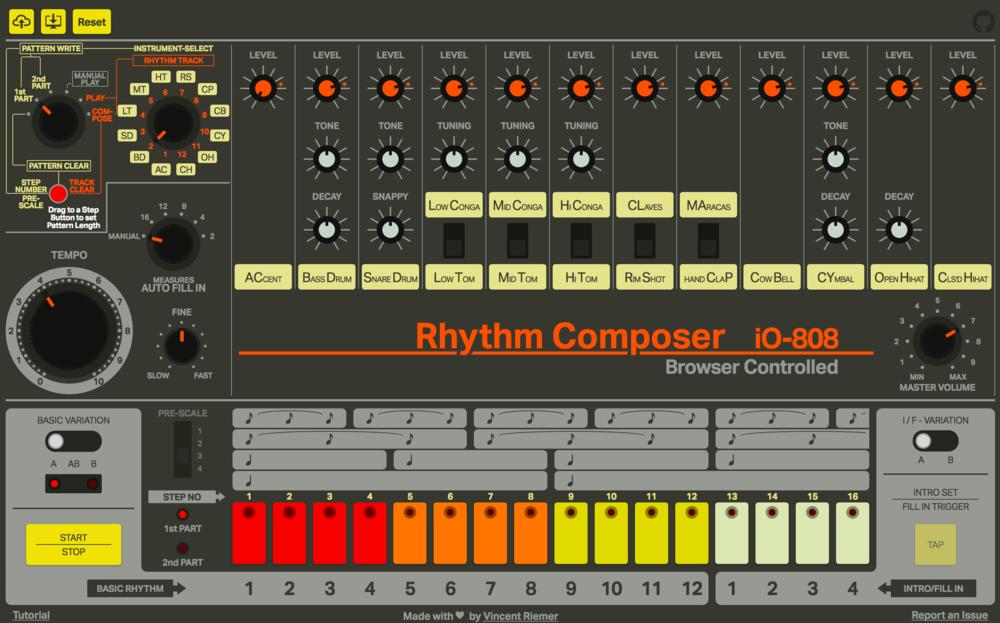 Online free 808 drum machine