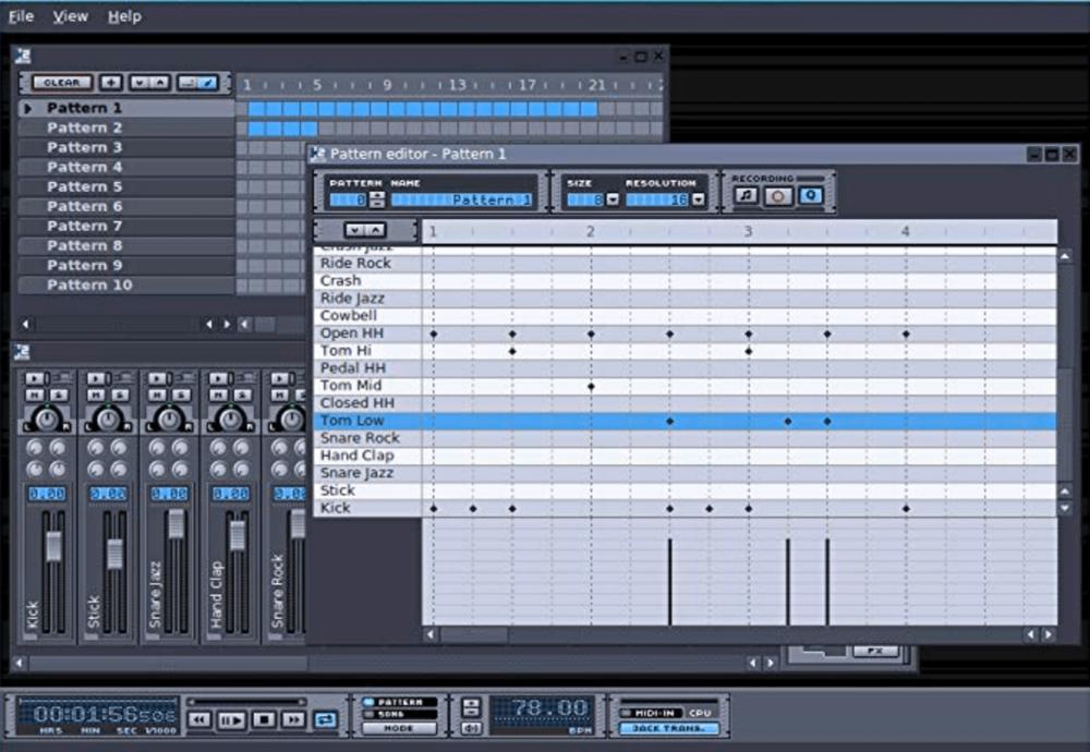 Hydrogen open source drum machine software