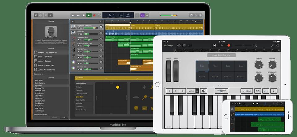 Garageband free digital audio workstation for Mac