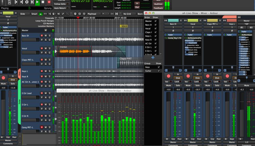 Ardour open source free recording DAW