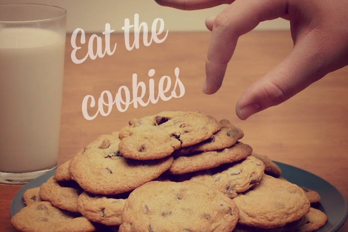 fun resolutions - eat the cookies