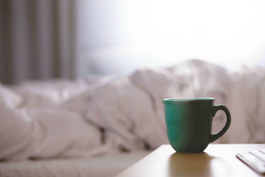 bedside steaming tea