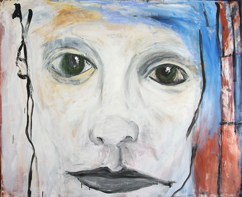 "persephone medium: acrylic on canvas size: 72"" x 60"" year: 2010"