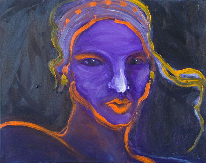 "apollo dresses medium: oil on canvas size: 24"" x 18"" year: 2007"