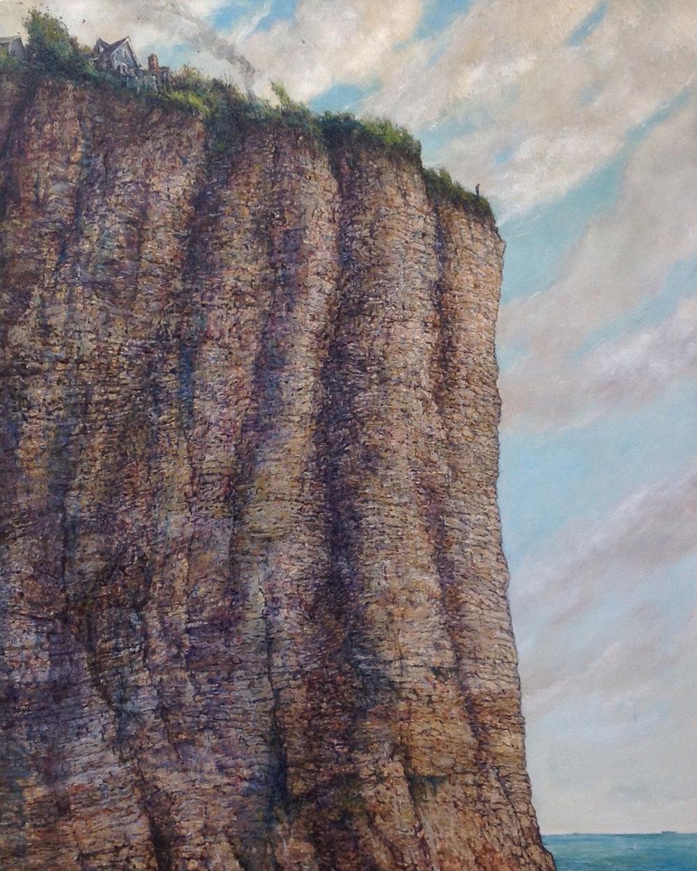"""Precipice , 2017 oil on linen 44 x 36"""""""