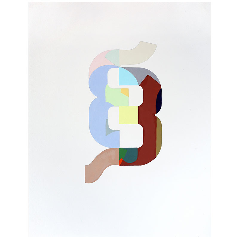 "Logo #10 , 2015 gouache on paper 14.5 x 11"" paper 16.75 x 13.25"" framed  Inquire >"