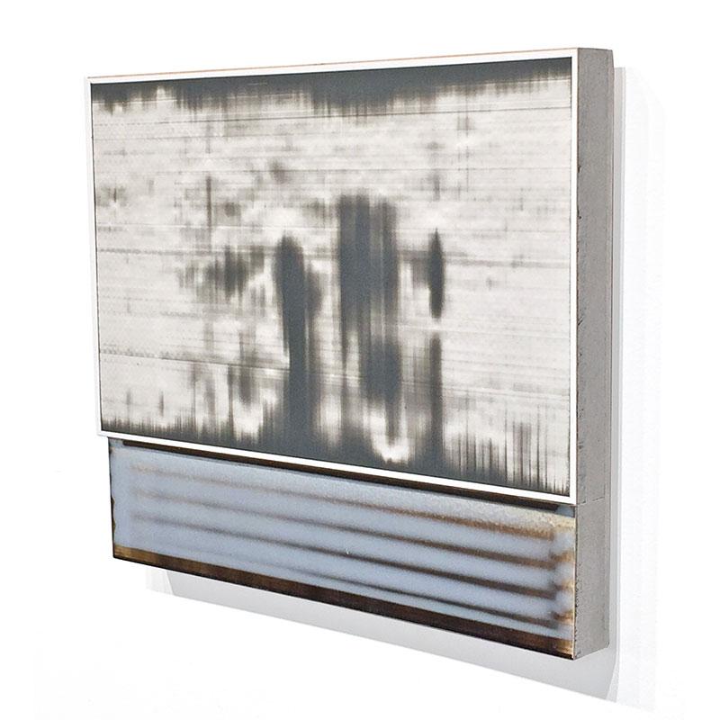 "Fauxtos (2) , 2015 acrylic glaze on Polypropylene sheet, board and plywood 11 x 9.25 x 1.75""  Inquire >"