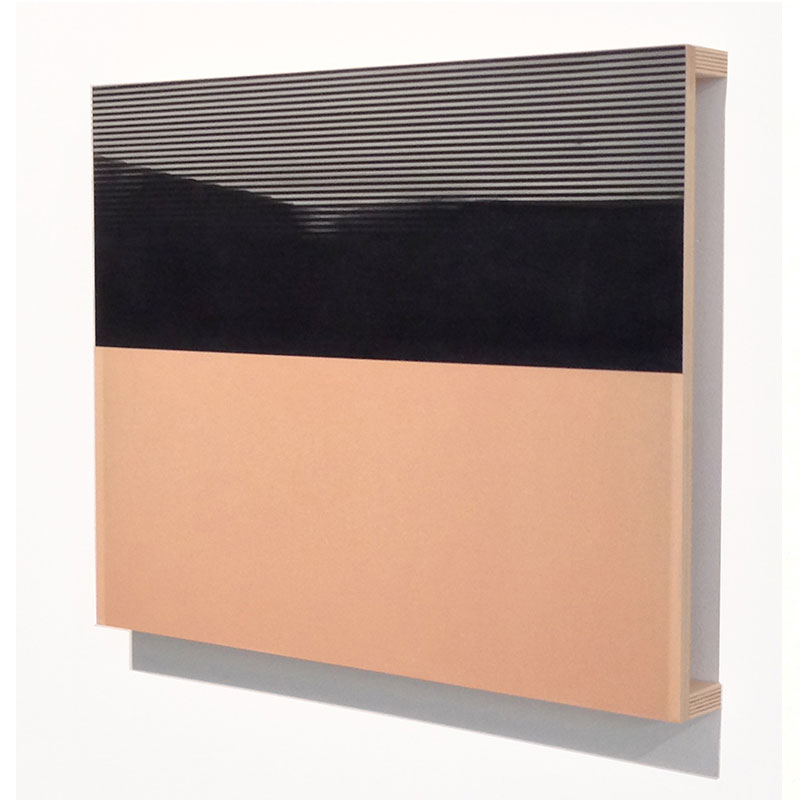 """Overview (2) , 2014 acrylic glaze on MDF and plywood 23 x 18 x 2""""  Inquire >"""