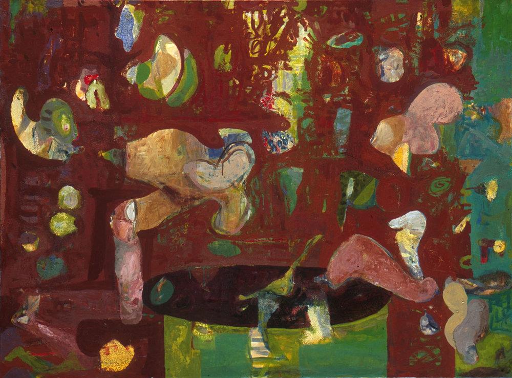 "Dutch Window , 2002 aliphatic urethane and pigment 44 x 60"""