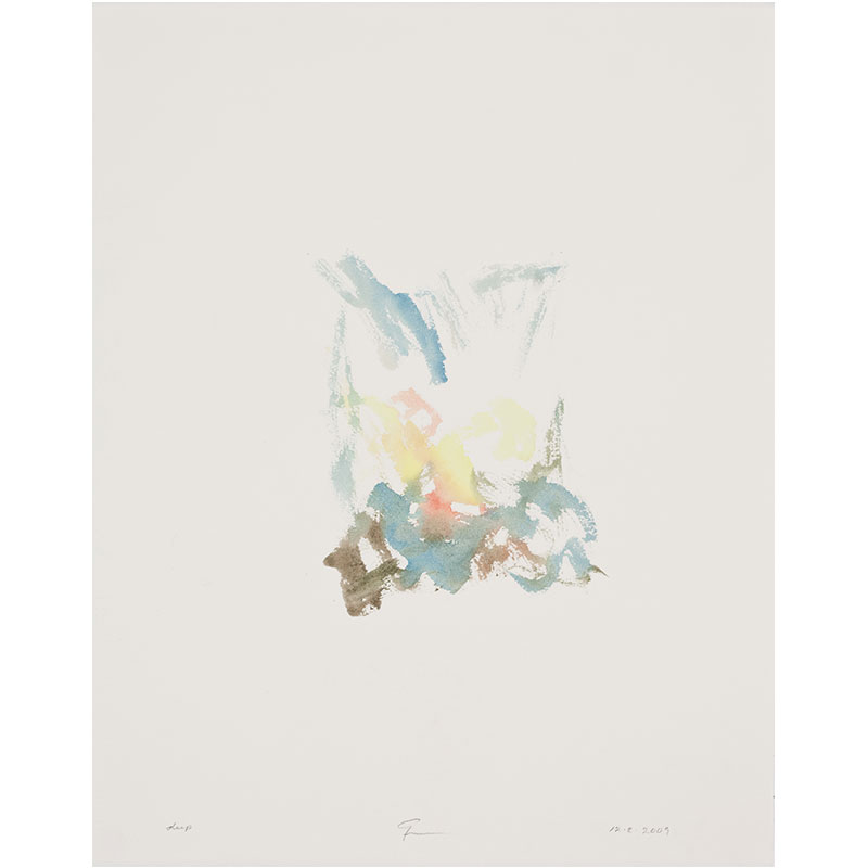 """Deep , 2009 watercolor on paper 20.5 x 16.25"""" paper 23 x 19"""" framed  Inquire >"""