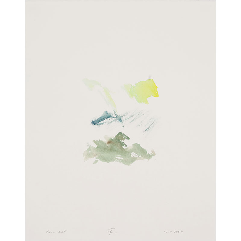 """Home Reef , 2009 watercolor on paper 20.5 x 16.25"""" paper  Inquire >"""