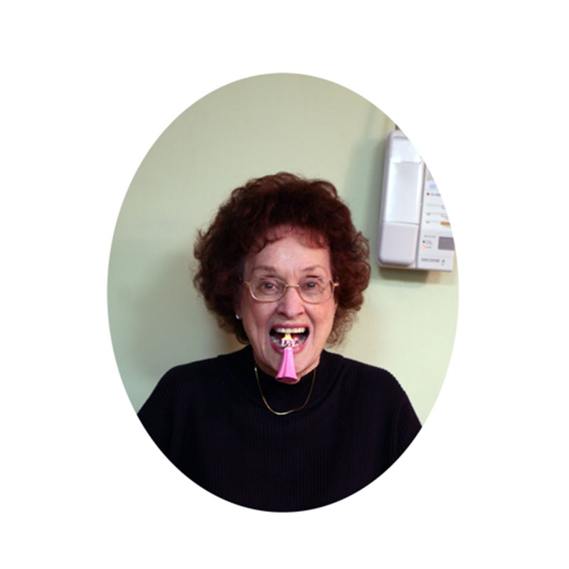 """Princess on the Tongue Series: Betty , 2006 lenticular photograph  10 x 8"""" oval image 14 x 12"""" framed Edition of 5  Inquire >"""