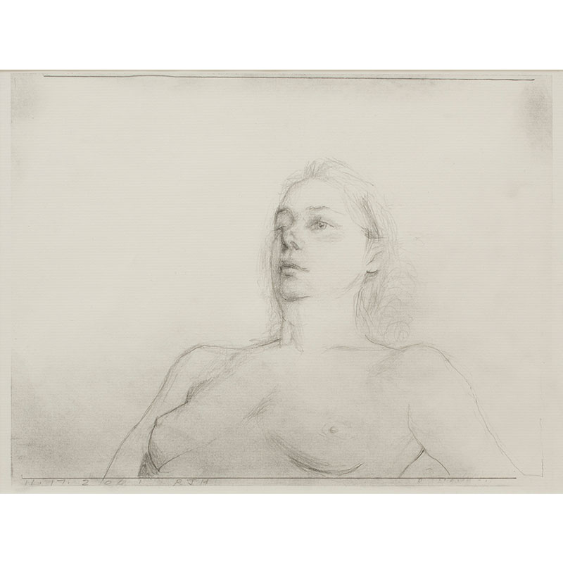 "Ruby , 2001 pencil on paper 8.5 x 11"" paper 16.5 x 20.25"" framed  Inquire >"