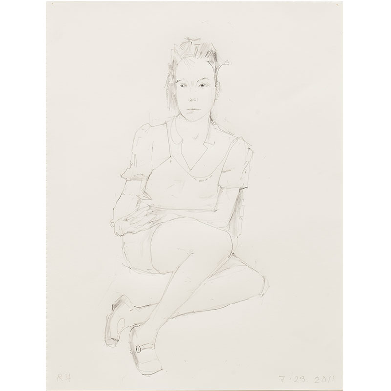 "Untitled (July 23, 2011) , 2011 graphite on paper 12 x 9"" paper  Inquire >"