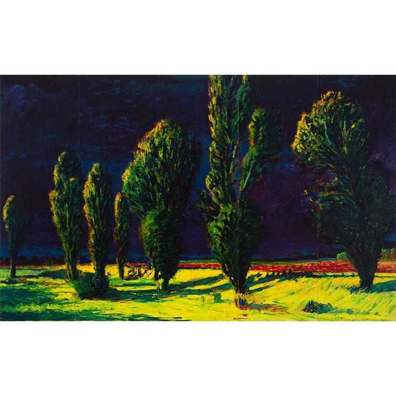 """Drama , 1987 oil on canvas 84 x 135""""  Inquire >"""