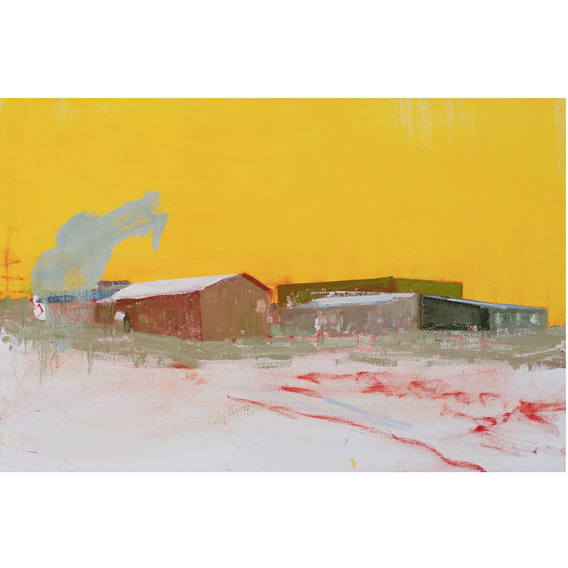 """La Loche, Saskatchewan (1-22-16) , 2016 oil on canvas 23.25 x 35.25""""  Inquire > SOLD"""