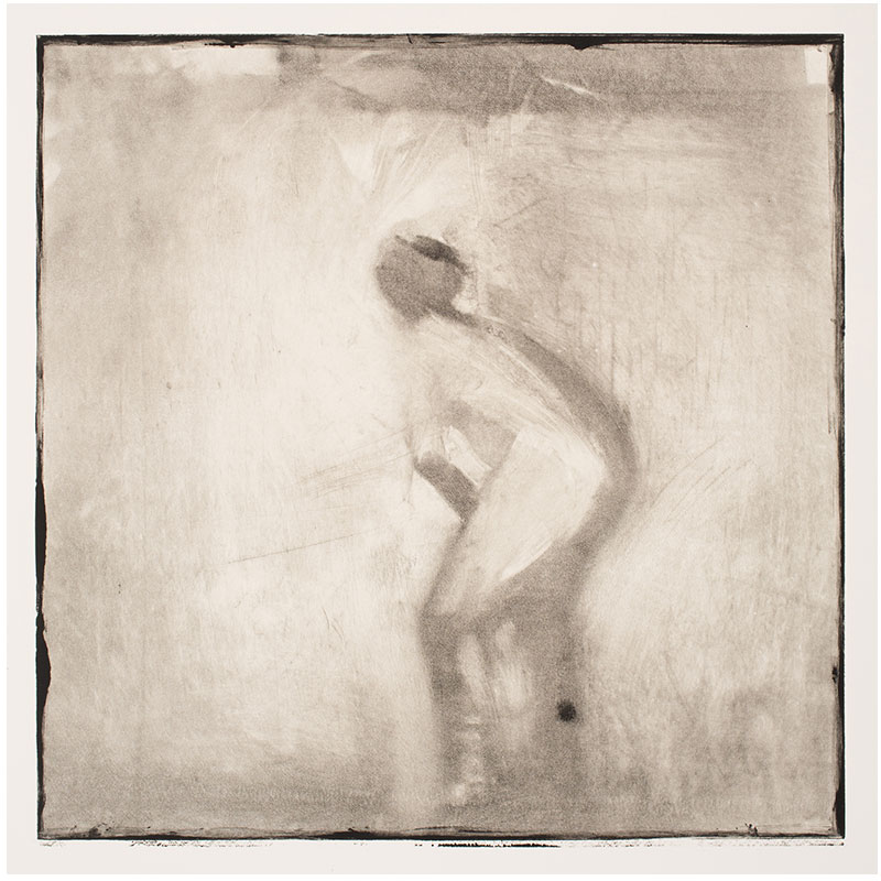 "Man/Woman (Eve) , 1995 monotype 12 x 12"" image 30 x 22.5"" paper  Inquire >"