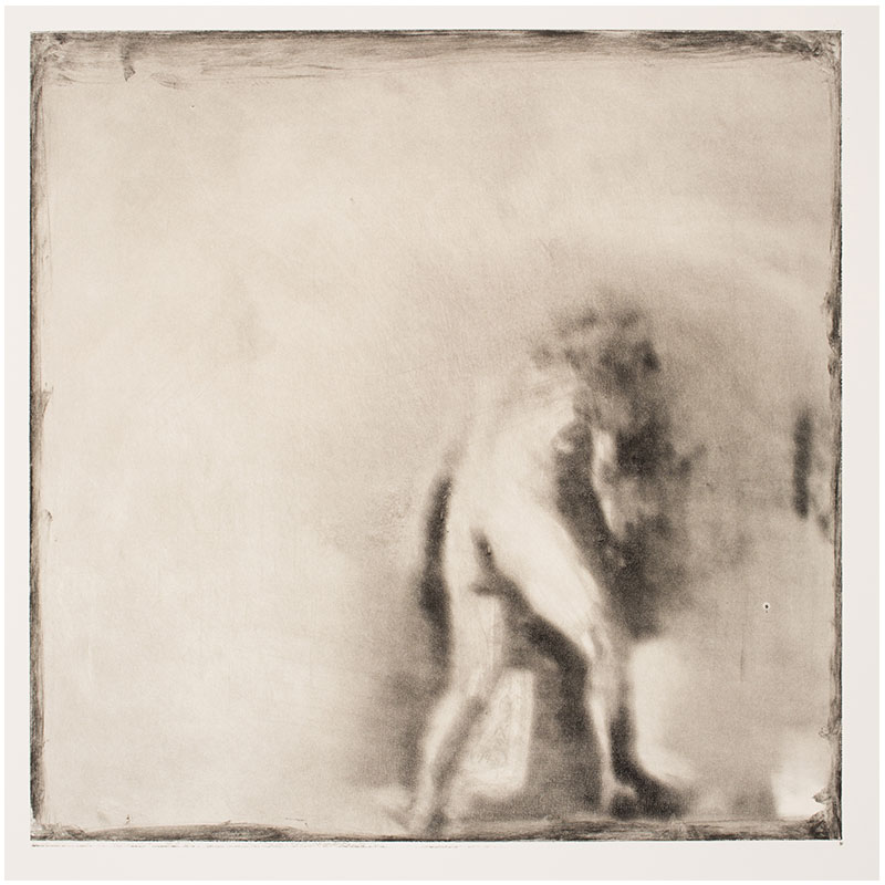 "Man/Woman (Expulsion) , 1995 monotype 12 x 12"" image 30 x 22.5"" paper  Inquire >"