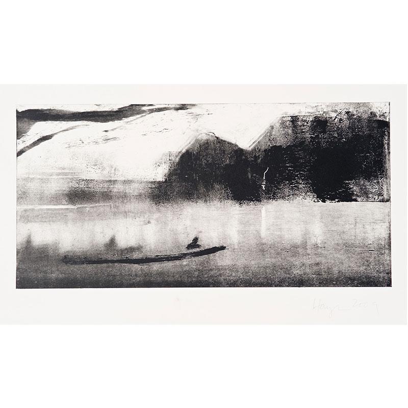 "Oakland Suite: Wild Beauty 2 , 2009 monoprint 15 x 22.5"" paper 8.5 x 17.5"" image  Inquire >"