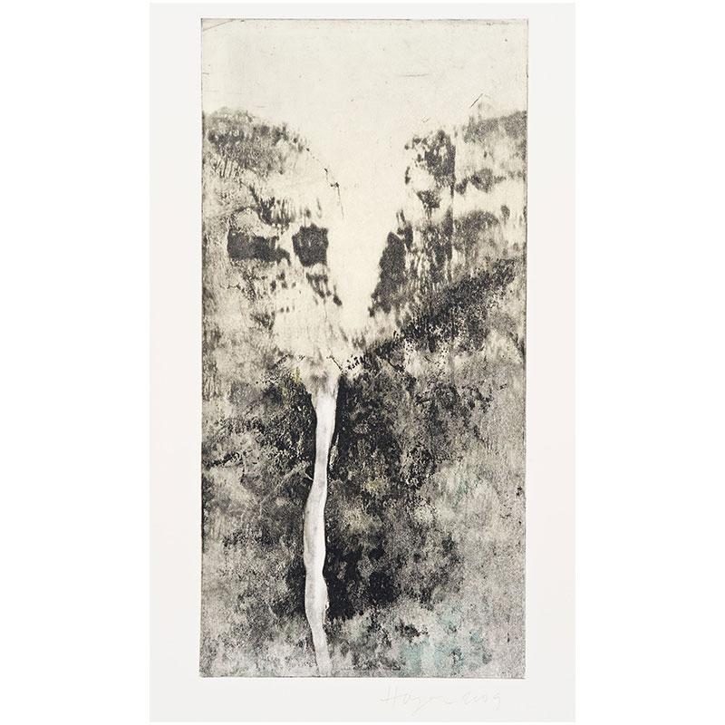 "Oakland Suite: Wild Beauty 15 , 2009 monoprint 22.5 x 15"" paper 17.75 x 8.75"" image  Inquire >"