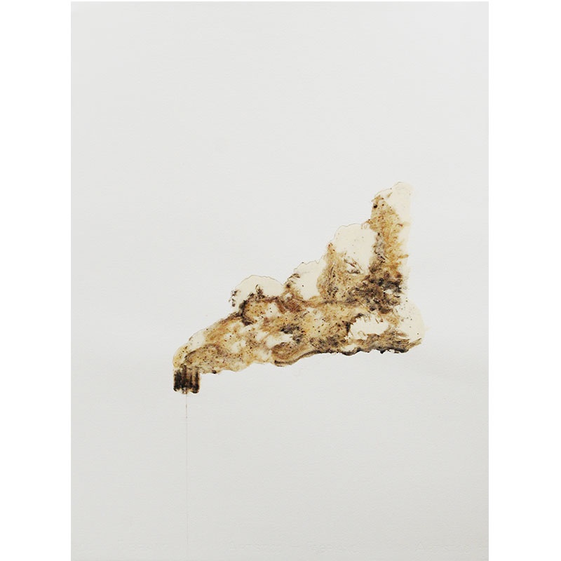 "Hack #4 , 2009 cigarette ash, graphite, and acrylic 30.25 x 22"" paper  Inquire >"