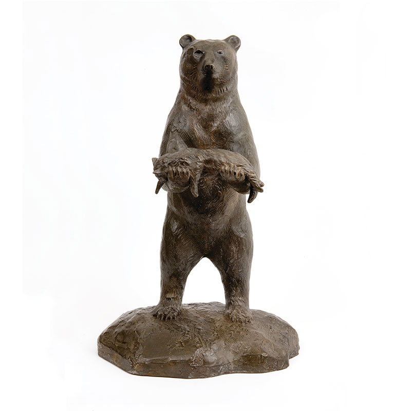 "Is This Your Cat? , 2006 bronze 22 x 14 x 12"" Edition of 6  Inquire >"