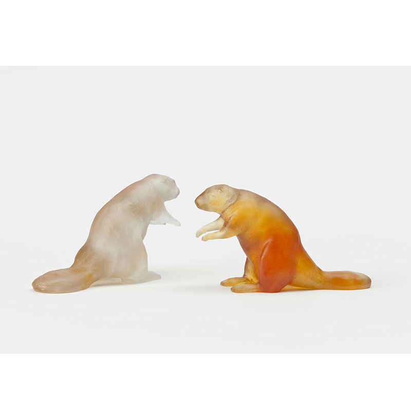 "Crystal Beaver , 2010 cast crystal 4 x 7.5 x 2.25"" Edition of 6  Inquire >"