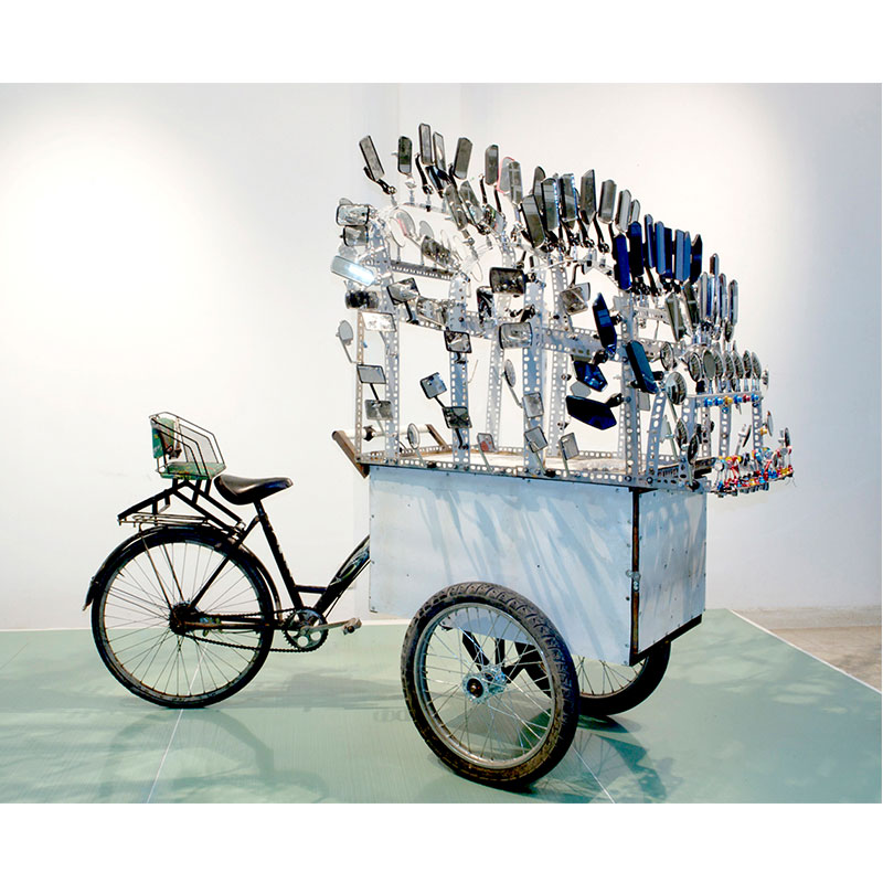 I am Large. I Contain Multitudes , 2009 bicycle, steel, mirrors dimensions variable Edition of 3, 1AP  Inquire >