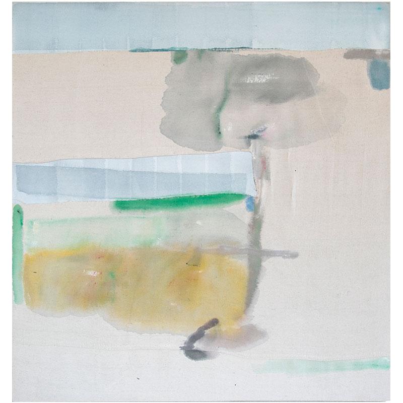 "Moic , 2016 acrylic on sewn cotton canvas 36 x 35""  Inquire >"