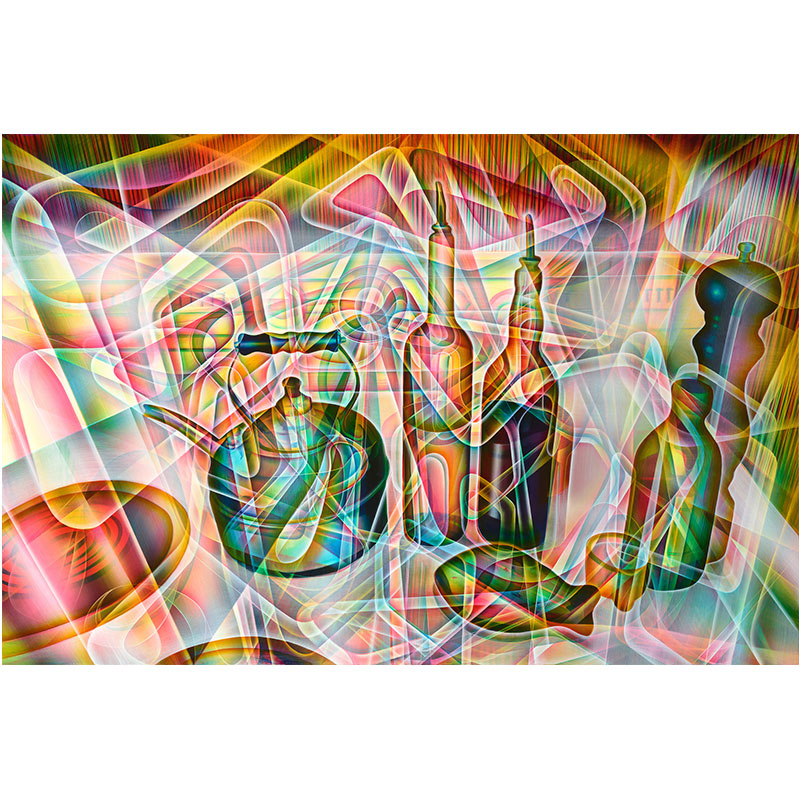 "Still Life #4 , 2014 oil on panel 24 x 36""  Inquire >"