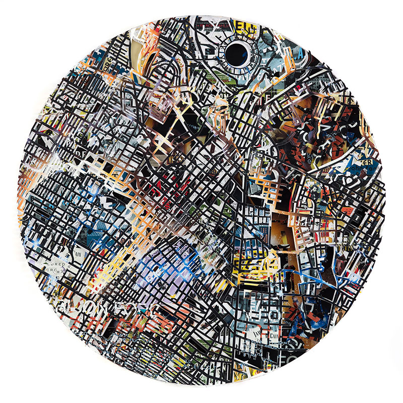 """Los Angeles #2 , 2015 archival papers and boards 40 x 40""""  Inquire >"""