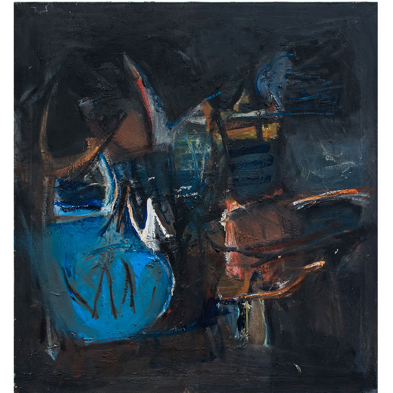 "Untitled - LK 1087 , 1960 oil on canvas 36 x 33.5""  Inquire >"