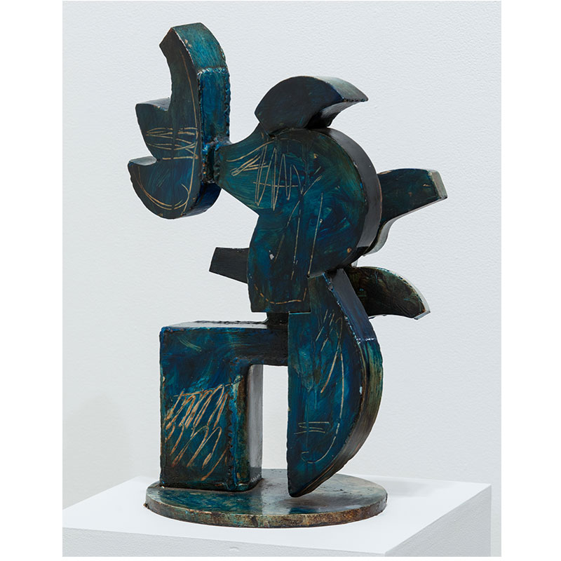 "Untitled (Beast Study) , 2000 steel with paint 23 x 20 x 10""  Inquire >"