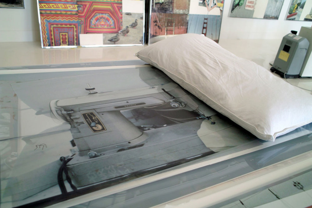 "Bob Rauschenberg's studio IV , 2008 pigment inkjet print 12 x 18"" image 20 x 26"" framed"